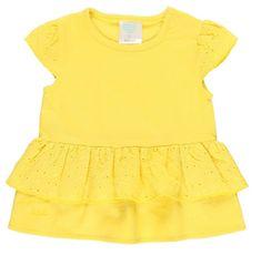 Boboli dívčí tričko s volánkem 202093 68 žlutá
