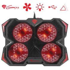 Genesis Oxid 250 hladilno stojalo, 43.94 cm (17,3), 4 ventilatorji, LED