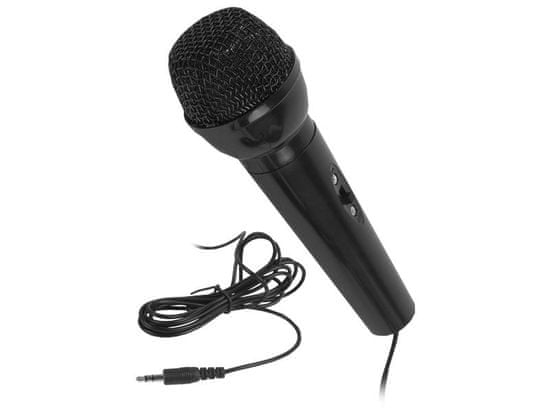 LTC Žični karaoke mikrofon s 3,5-milimetrskim vmesnikom mini jack