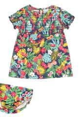 Boboli 242042 dekliški komplet obleke in spodnjih hlač, večbarven, 92