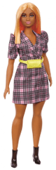 Mattel Barbie Model 161 - Karirana haljina sa žutom torbicom