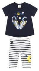 Boboli dekliški komplet majice in legic 202059, 92, temno modra