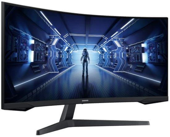 Samsung Odyssey G5 C34G55TWWU gaming monitor, 86,3 cm (34), VA, WQHD, 165 Hz