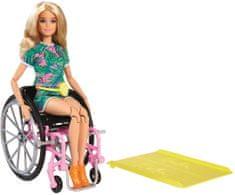 Mattel Barbie Modelka na invalidním vozíku 165 - Blondýnka
