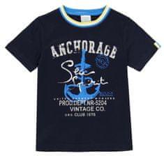 Boboli chlapecké tričko s kotvou 502029 104 tmavě modrá