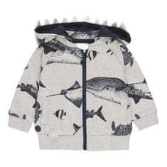 Boboli chlapecká mikina se žraloky 302151 68 šedá