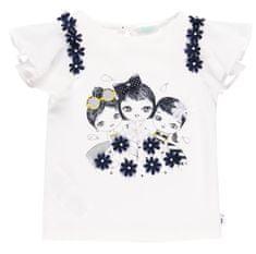 Boboli dekliška majica z volančki 702212, 74, bela