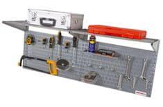 AHProfi Děrovaná deska včetně dvou polic a příslušenství 1200x380x16mm - AL8030