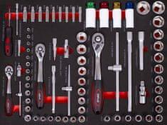 AHProfi Set Gola v penastem modulu za delavniške vozičke, 74 delov – AH12399