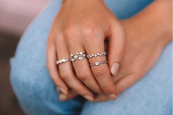 Hot Diamonds Luxusní stříbrný prsten s topazem a diamantem Willow DR206 stříbro 925/1000