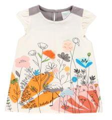 Boboli dekliška obleka z motivom cvetlic 222040, 92, smetanasta