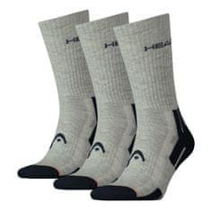 Head 3PACK ponožky šedé (741020001 650) - velikost M