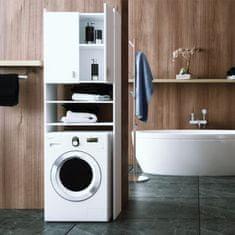 KONDELA Natali skrinka nad práčku biela