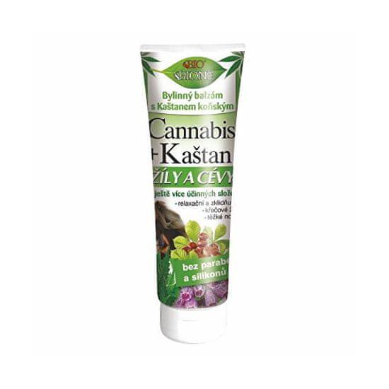 Bione Cosmetics Bylinný balzam s gaštanmi konským na žily a cievy Cannabis 200 ml