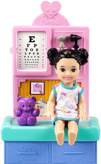 Mattel Barbie Poklic Pediatrinja Svetlolaska Igralni komplet