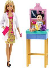 Mattel Barbie Povolání Dětská doktorka Blondýnka Herní set