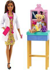 Mattel Barbie Povolání Dětská doktorka Brunetka Herní set