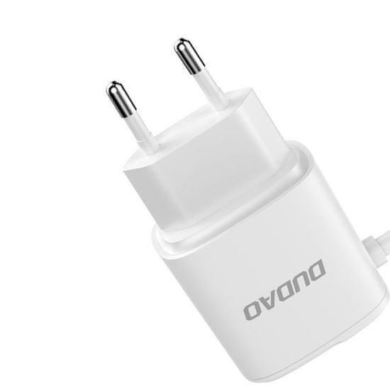 DUDAO A2Pro 2x USB nabíječka s Lightning káblom 2.4A, bíla
