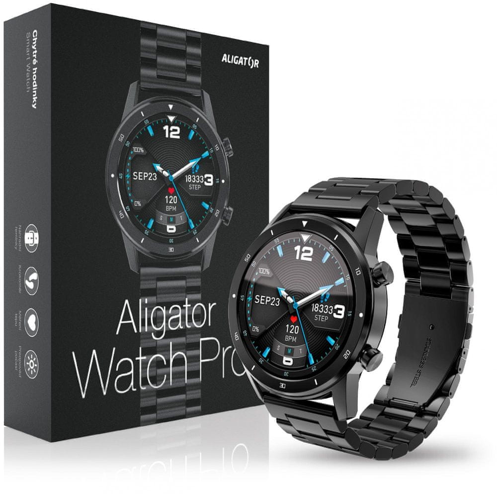 Aligator Watch PRO (Y80), Black - rozbaleno