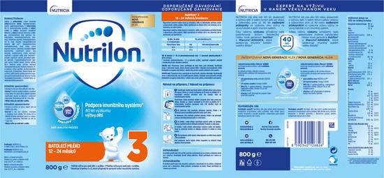 Nutrilon 3 batolecí mléko 6x 800g, 12+