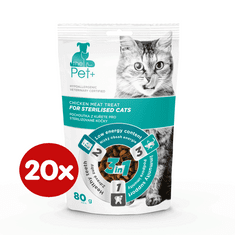 thePet+ cat Sterilised treat 20 × 80 g