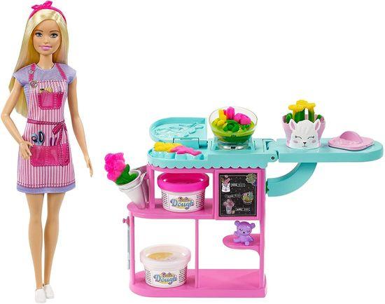 Mattel Barbie Cvetličarka, set s plastelinom