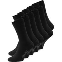 Jack&Jones 10 PACK - férfi zokni JACJENS 12125756 Black