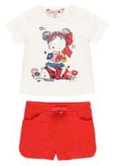 Boboli dekliški komplet majice in legic 232119, 92, smetanasta