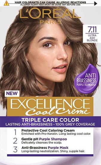 Loreal Paris Permanentná farba na vlasy Excellence Cool Creme
