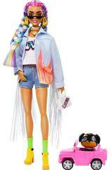 Mattel Barbie Extra farmer kabátban, rojttal