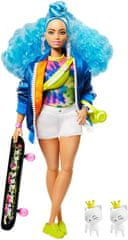 Mattel Barbie Extra gördeszkával