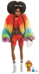 Mattel Barbie Extra v duhové bundě