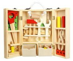 Teddies lesno orodje z dodatki v leseni škatli