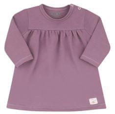 Nini dievčenské šaty z organickej bavlny ABN-2511 86 ružová