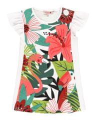 Boboli dekliška obleka z motivom cvetlic 412085, 122, bela