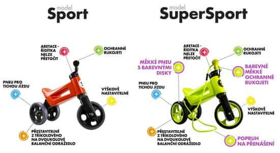 Teddies Funny Wheels New Sport 2v1 trikolesnik, siv - Odprta embalaža