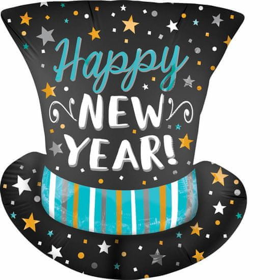 Amscan Fóliový balón supershape Cylinder Happy New Year 53x60cm
