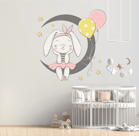 Megaprint stenska nalepka Mala zajčica