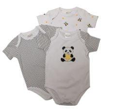Just Too Cute 3pack dětských body Panda 56 bílá
