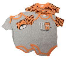 Just Too Cute 3pack chlapeckých body Tygr 56 šedá