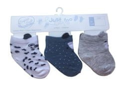 Just Too Cute 3pack chlapeckých ponožek s oušky 62 vícebarevná