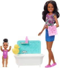 Mattel Barbie igra varuške v kadi Črnolaska