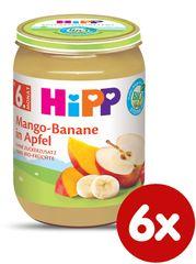 HiPP BIO Jablka s mangem a banány - 6x190 g