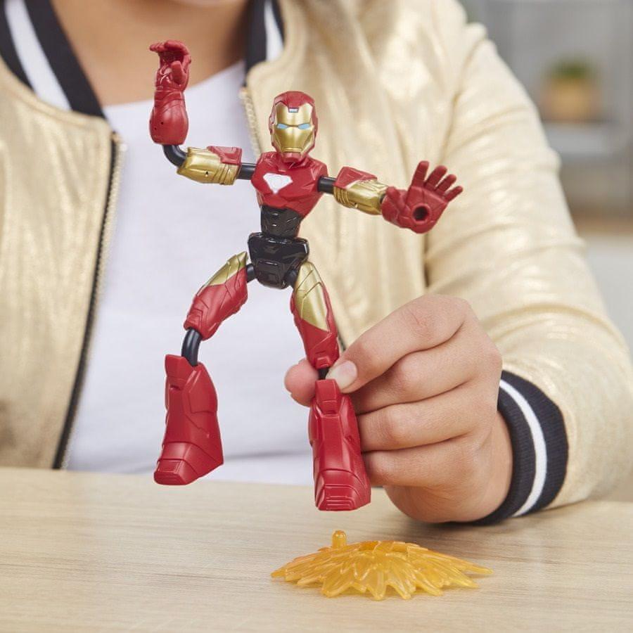 Avengers figurka Bend and Flex Rider Iron Man