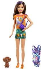Mattel Barbie sestra s kopalkami in modrim kovčkom