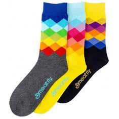 MEATFLY 3 PACK - zokni Pixel socks S19 (méret 43-46)