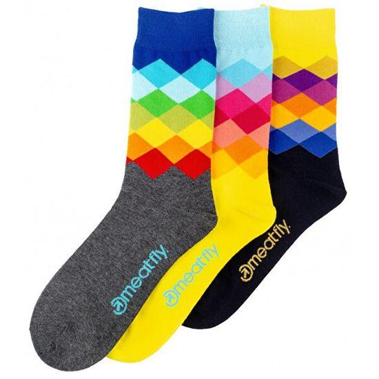 MEATFLY 3 PACK - skarpetki Pixel socks S19