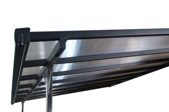 Rojaplast pergola ogrodowa BRUCE F 436×305 cm, szara