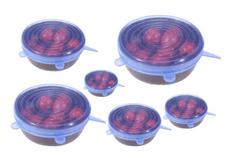 Univerzalni silikonski pokrovi, raztegljivi, 6 kosov