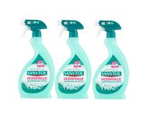 SANYTOL 3 x 500 ml dezinfekčný univerzálny čistič sprej eukalyptus
